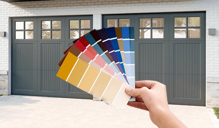 mahogany garage door colors