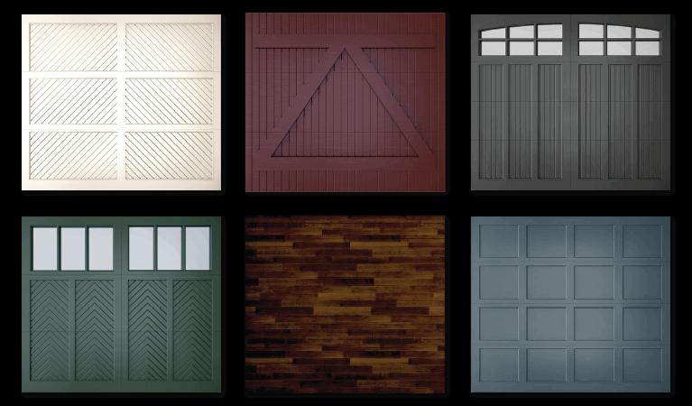 wood garage doors styles