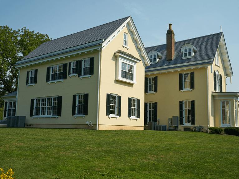 custom shutters on 19th century home in princeton nj