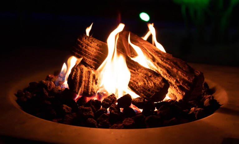 add a gas-powered fire pit or electric patio heater to enjoy time outside your home during Fall