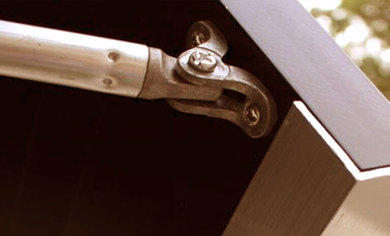 Timberlane offers bahama shutter hardware including continuous hinges and support arms