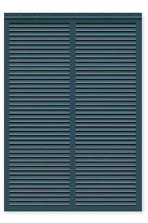 Timberlane fixed louver hurricane rated bahama shutter style with blue finish