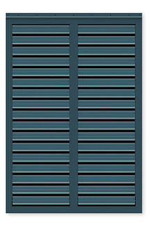 Timberlane operable louver hurricane rated bahama shutter style with blue finish
