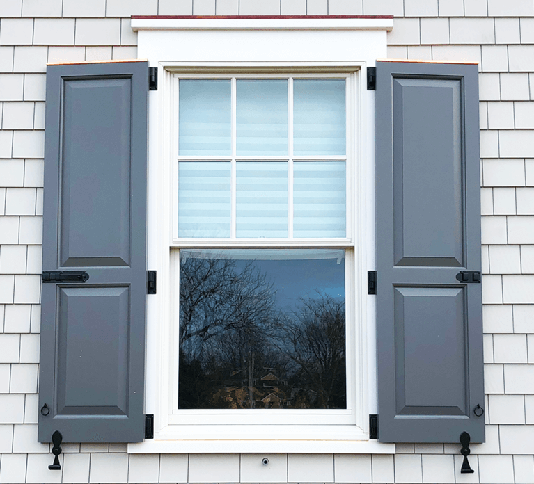 why install exterior shutters with protective capping