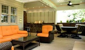Timberlane Bermuda Shutters in a 3 Season Outdoor Room