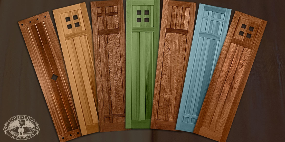wooden Mission Style shutters