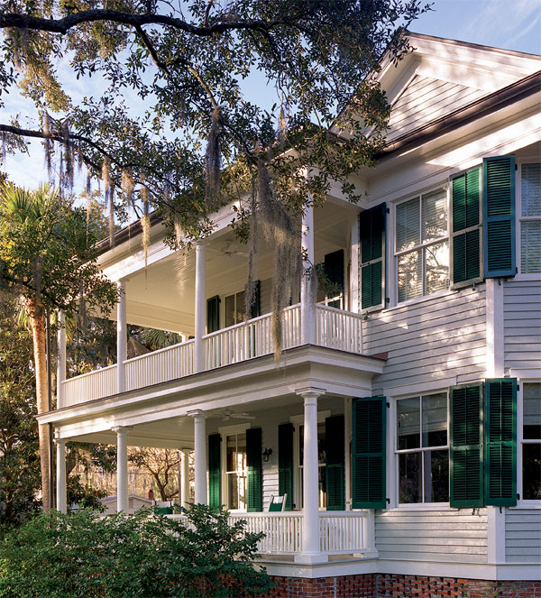 Green Louvered Shutters For Living On The Islands Along The South Eastern  Coast