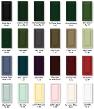 Timberlane shutter color chart
