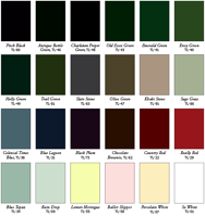 Timberlane exterior shutter color paint chart