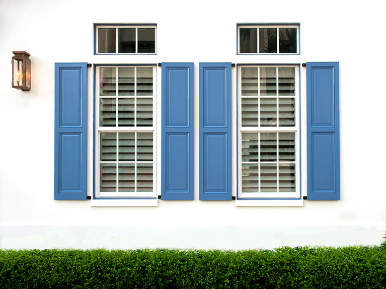 custom exterior shutters made from endurian pvc material