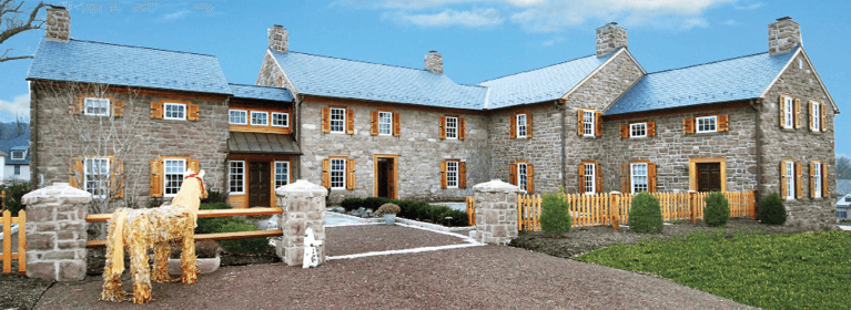 how to choose wooden exterior shutters for a stone home