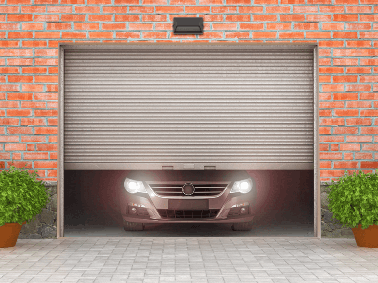 what are roll up garage doors