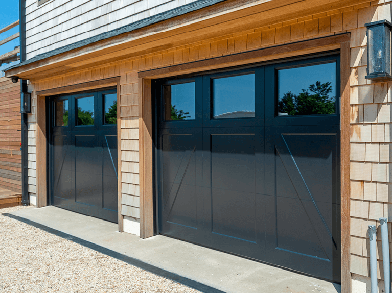 what are sectional overhead garage doors
