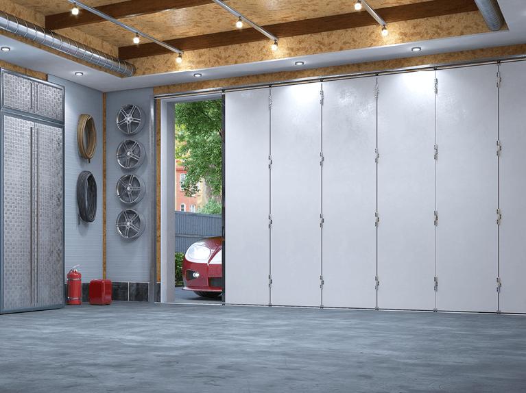 what are sliding garage doors