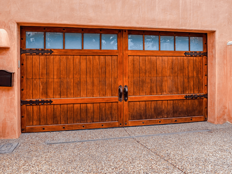 what are swing out garage doors