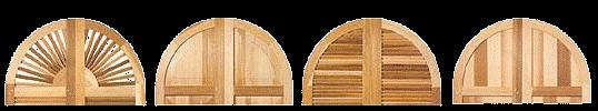Wooden radius top shutters options