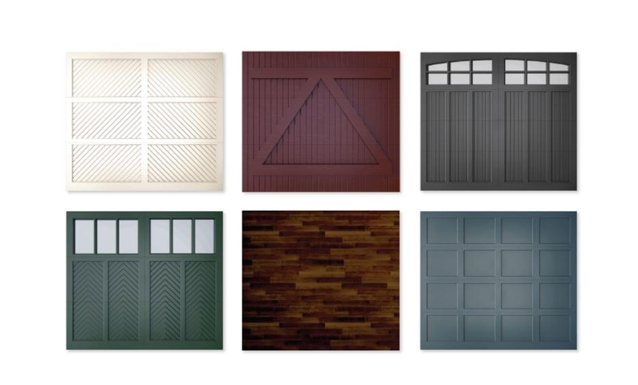 rustic garage door options
