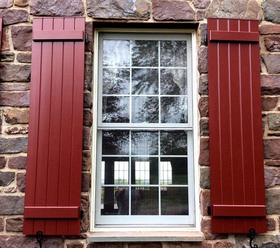 rustic looking shutters