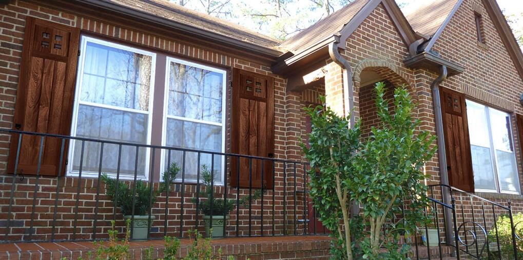 rustic shutters for windows