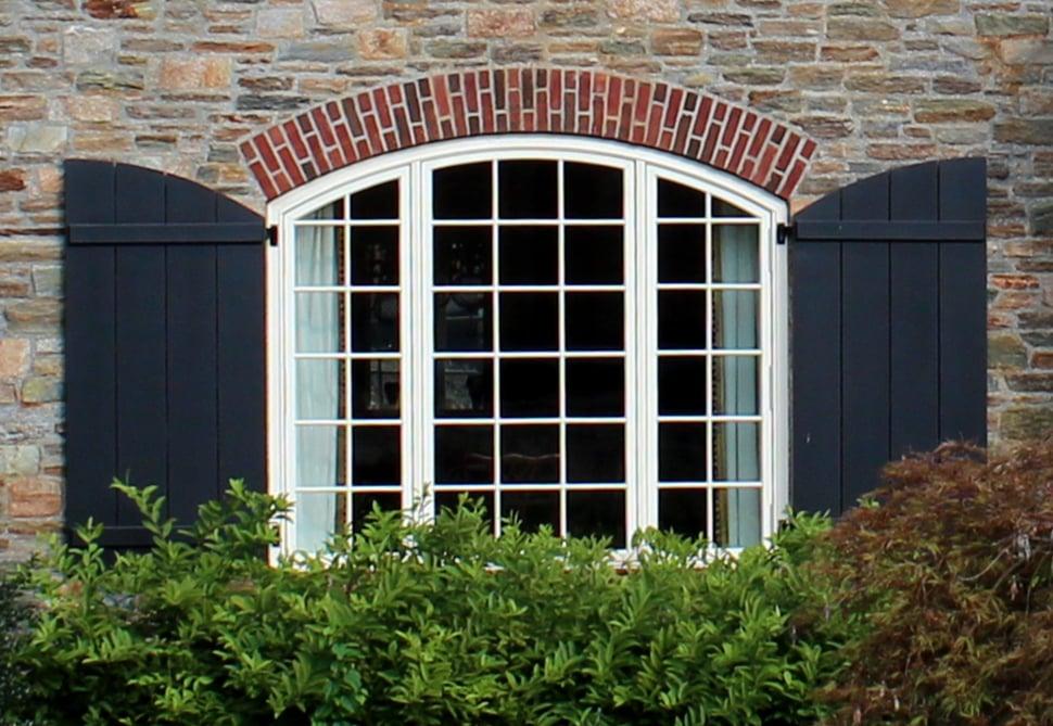 rustic window shutter