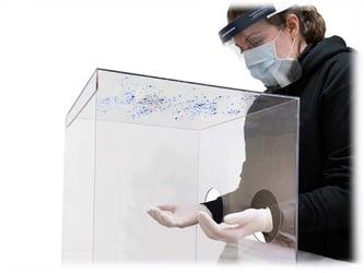 Timberlane intubation shield contamination test