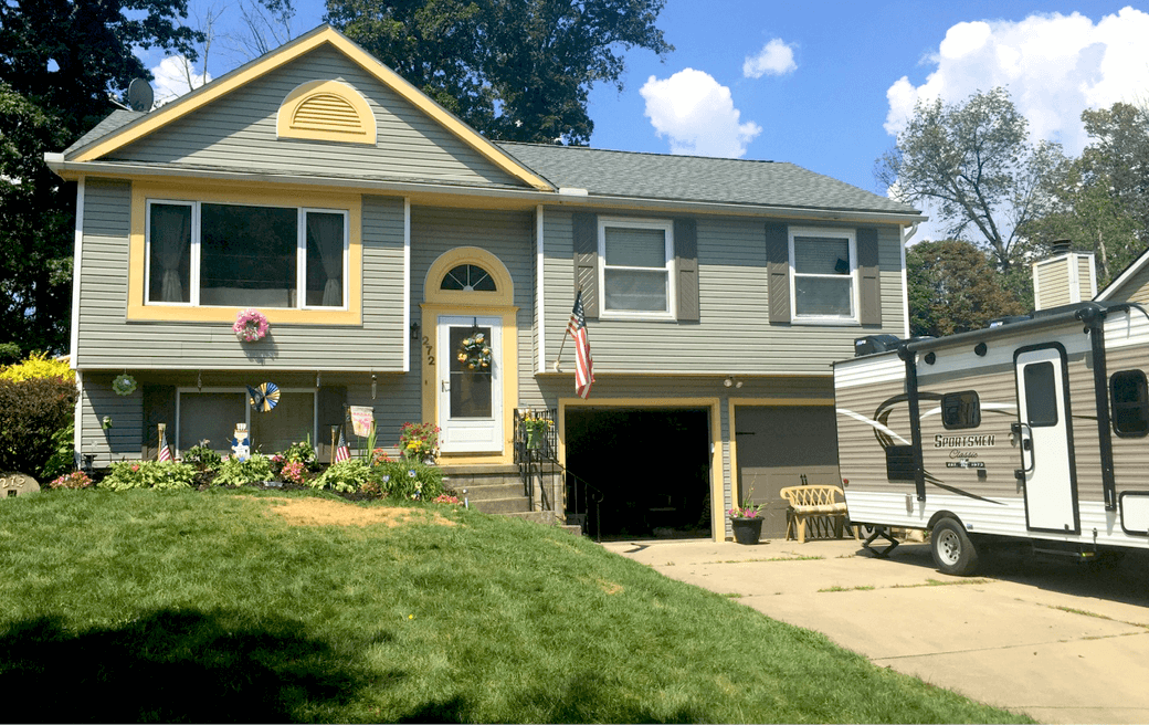 Adding Curb Appeal to a Split-Level Home with Exterior Shutters