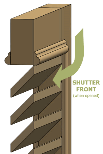 Hanging Fixed Louver Shutters